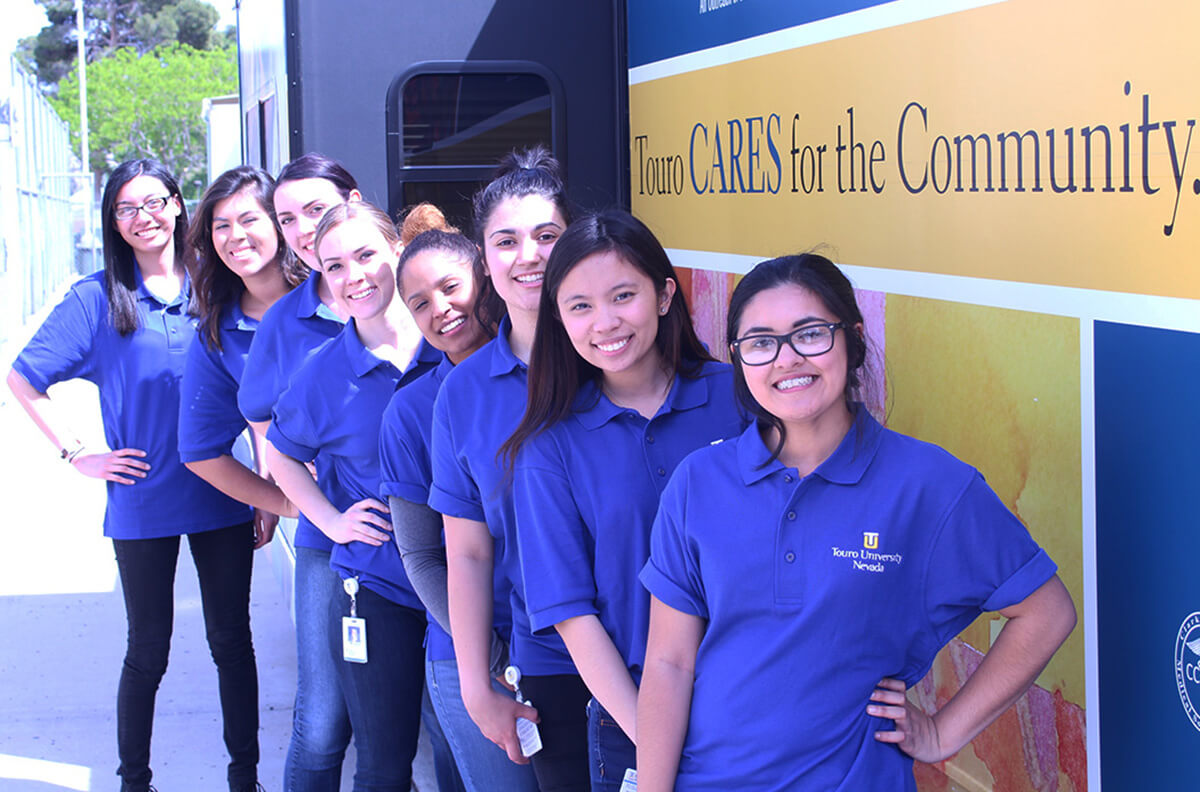 The bachelor of science in nursing cohort at a mobile healthcare collaboration.