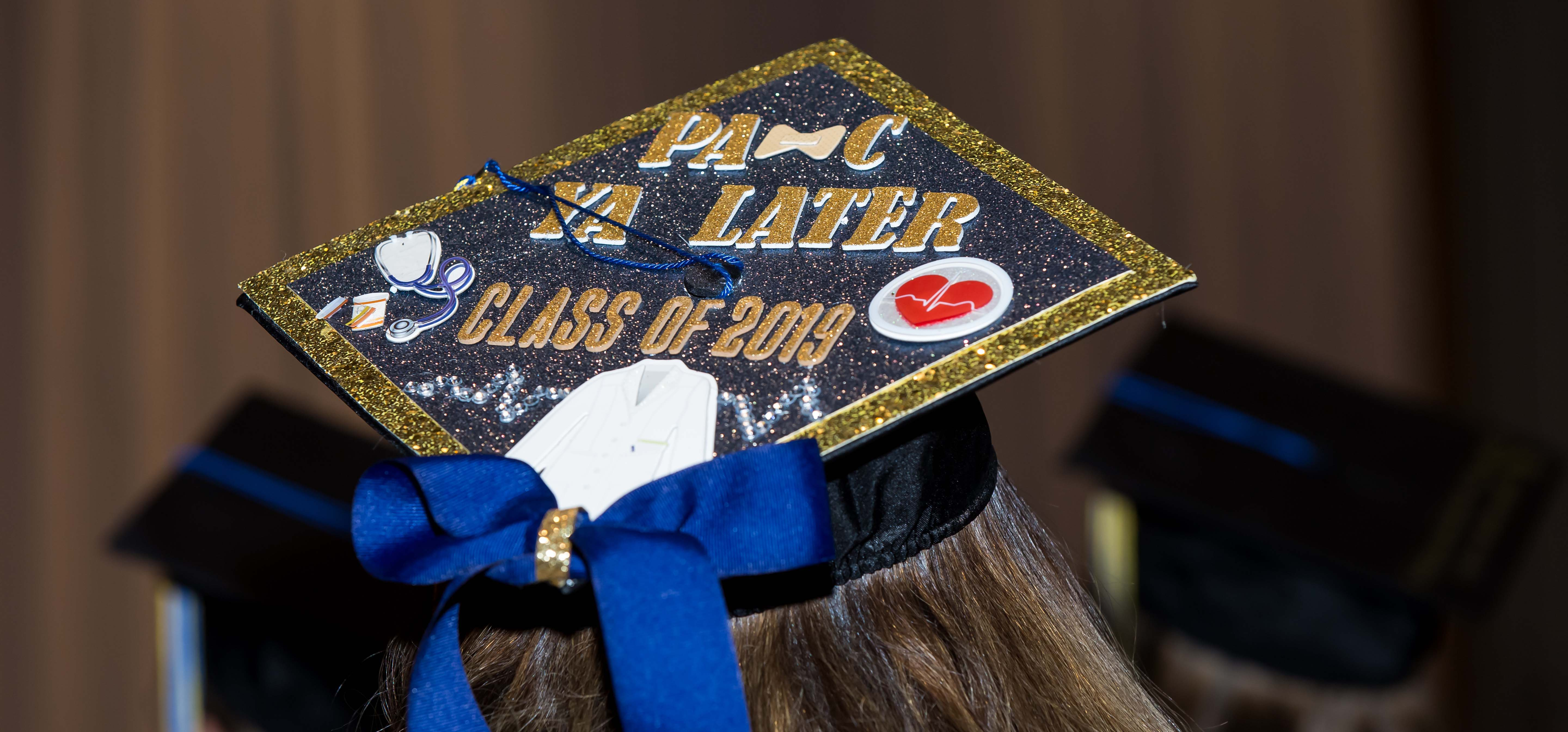School of Physician Assistant Studies Graduation Cap from Winter Commencement 2019