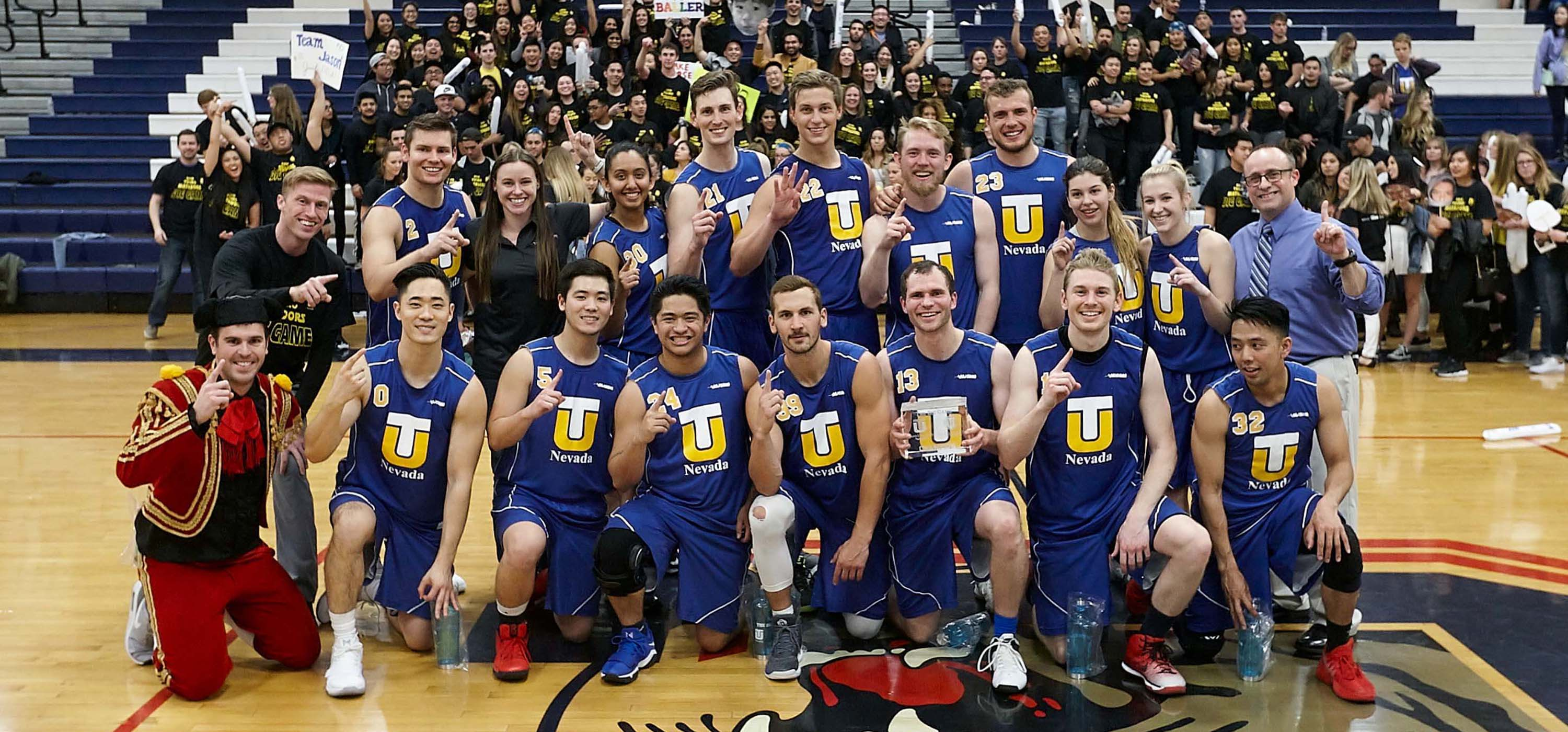 The Touro Nevada Matadors after beating the Touro California Bulls during \'The Big Game.\'