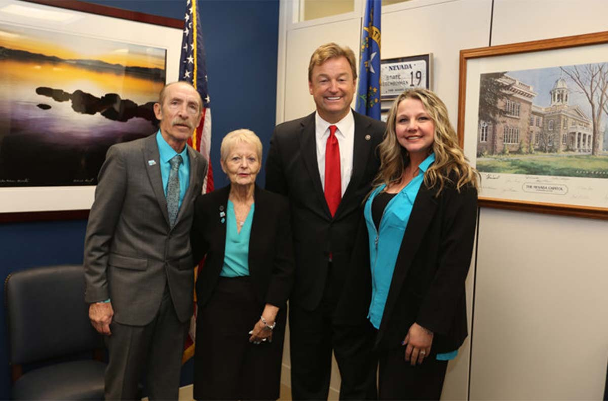 June Boyko and U.S. Sen. Dean Heller (R-NV).