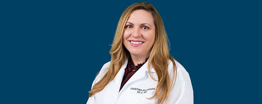 Dr. Cristina Belanger is an alumna of the School of Physician Assistant Studies, Class of 2008