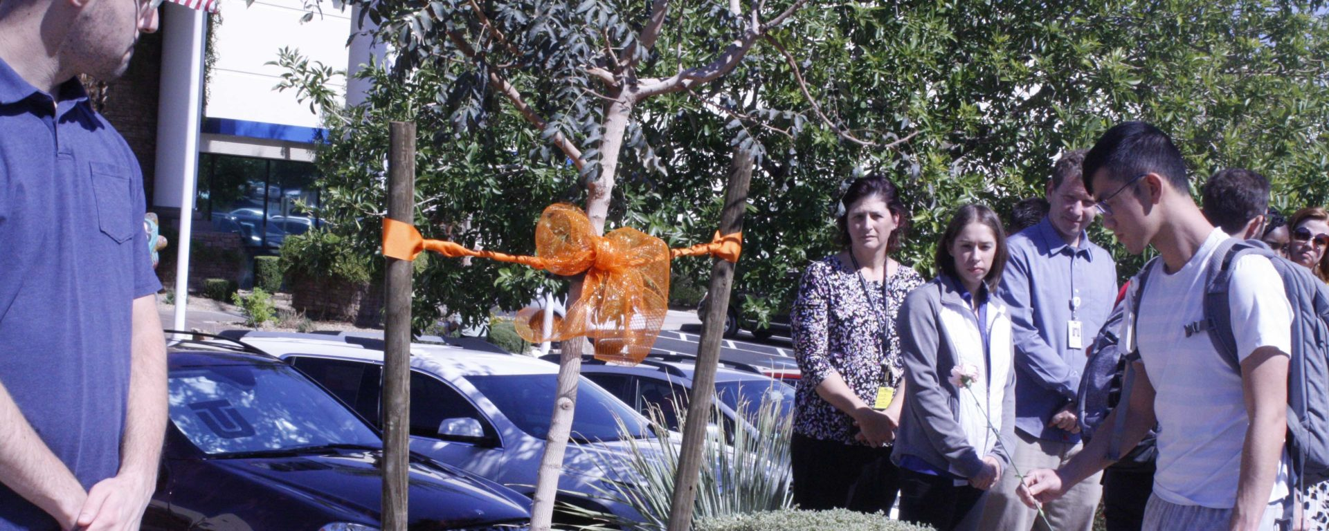 Touro University Nevada honored the victims of the Route 91 Harvest Festival shooting with a special on-campus ceremony, including a tree dedication in front of the university.