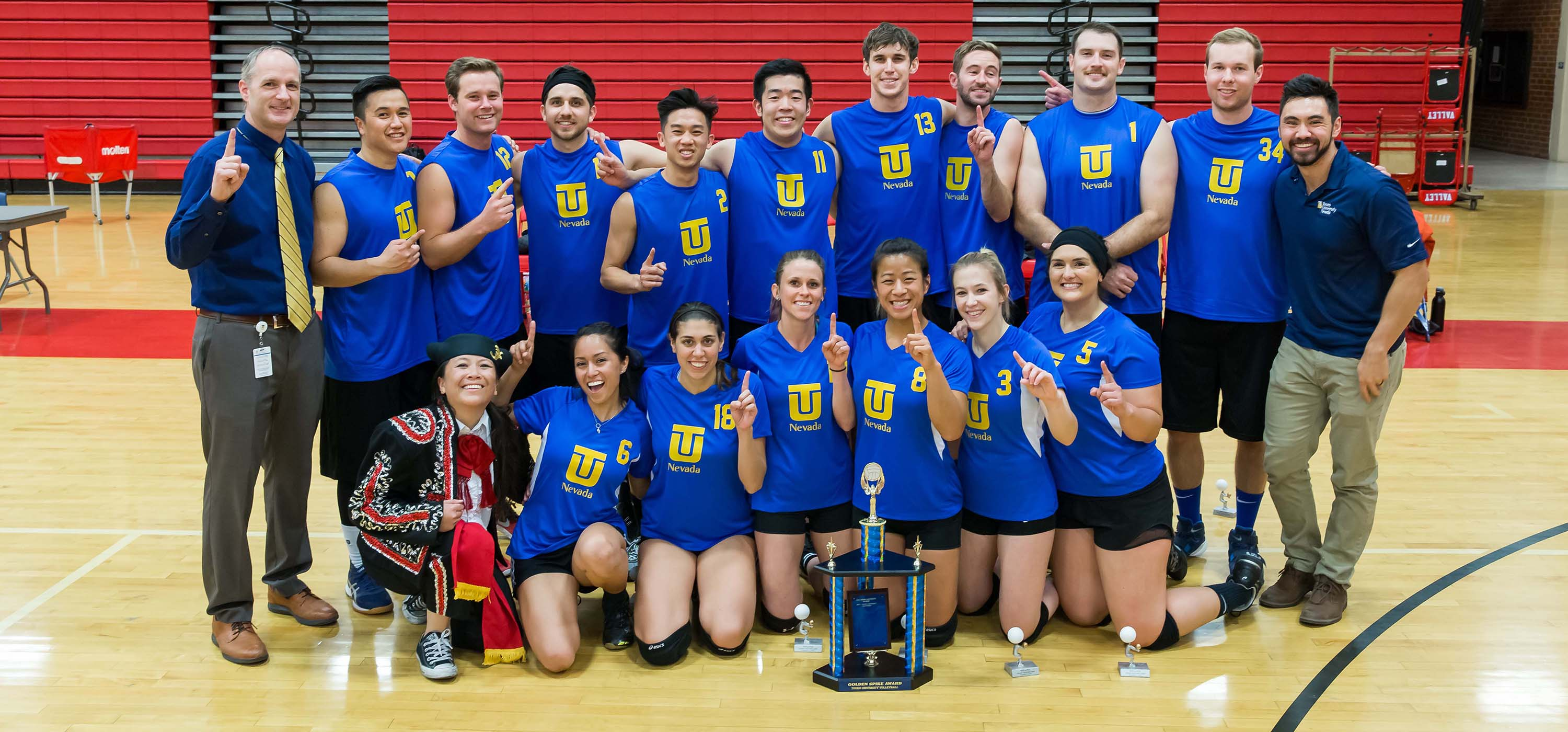 The Touro Nevada Matadors after winning the Golden Spike.