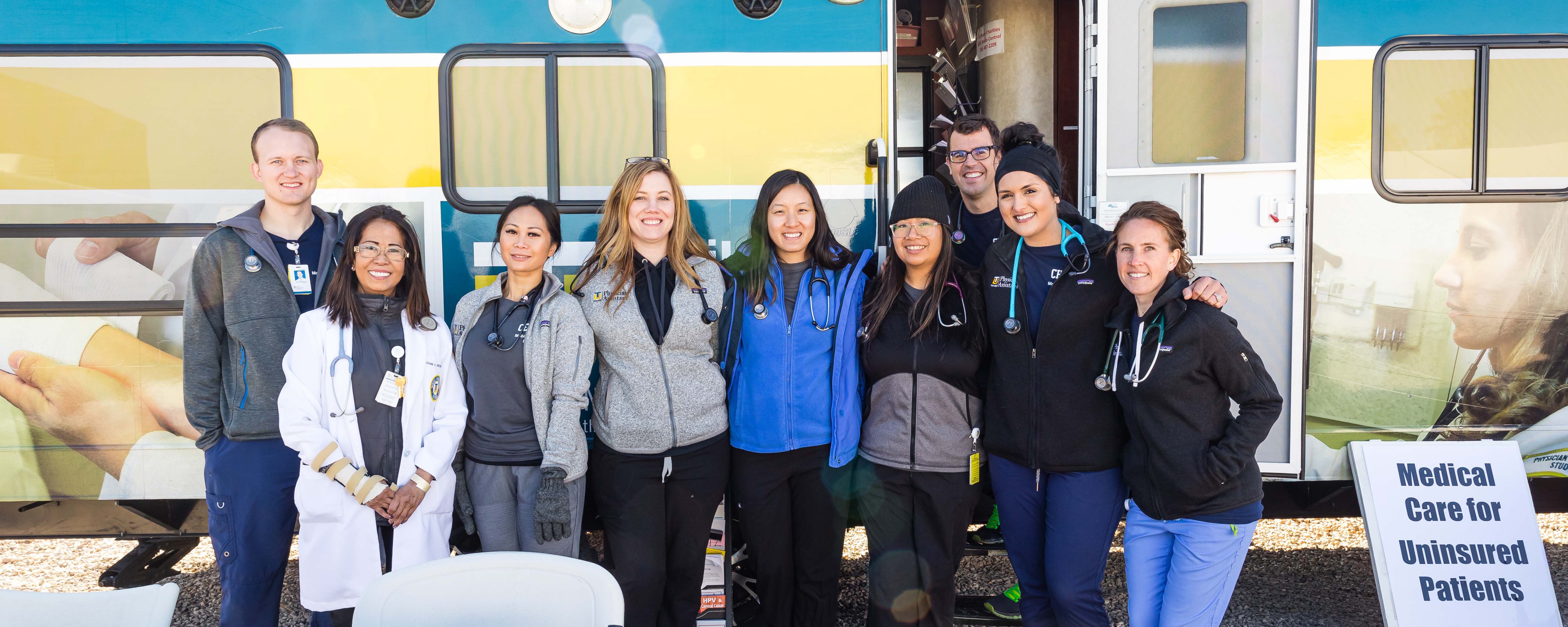 Students from the School of Physician Assistant Studies, School of Nursing, and School of Occupational Therapy provided free healthcare at Project Homeless Connect during the week of Thanksgiving.