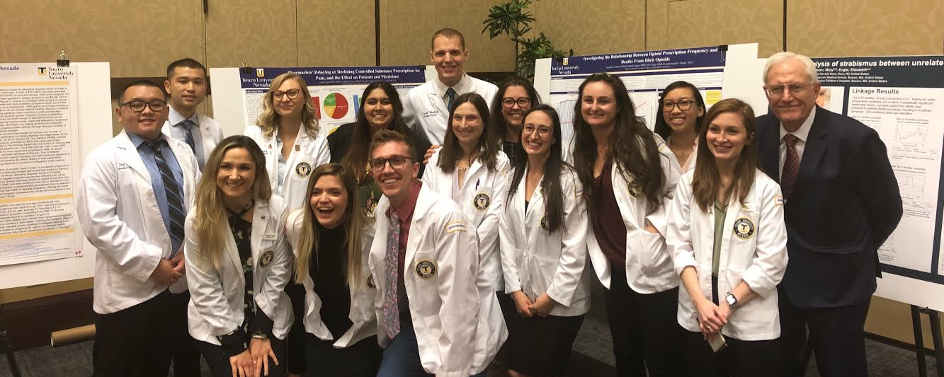 Nearly 20 TUNCOM students presented research posters during the weekend-long conference, four of whom were recognized for their outstanding presentations.
