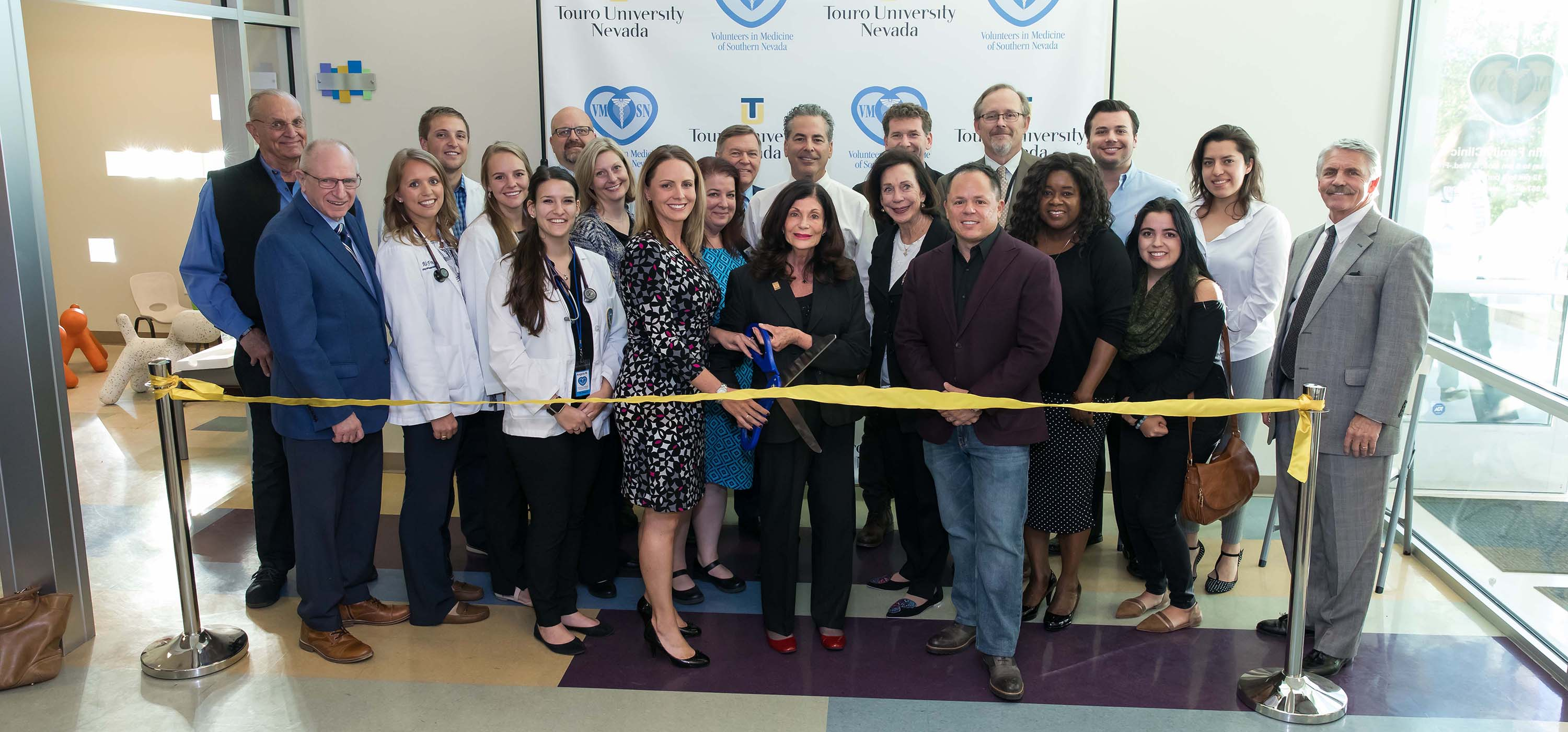 The ribbon cutting ceremony.