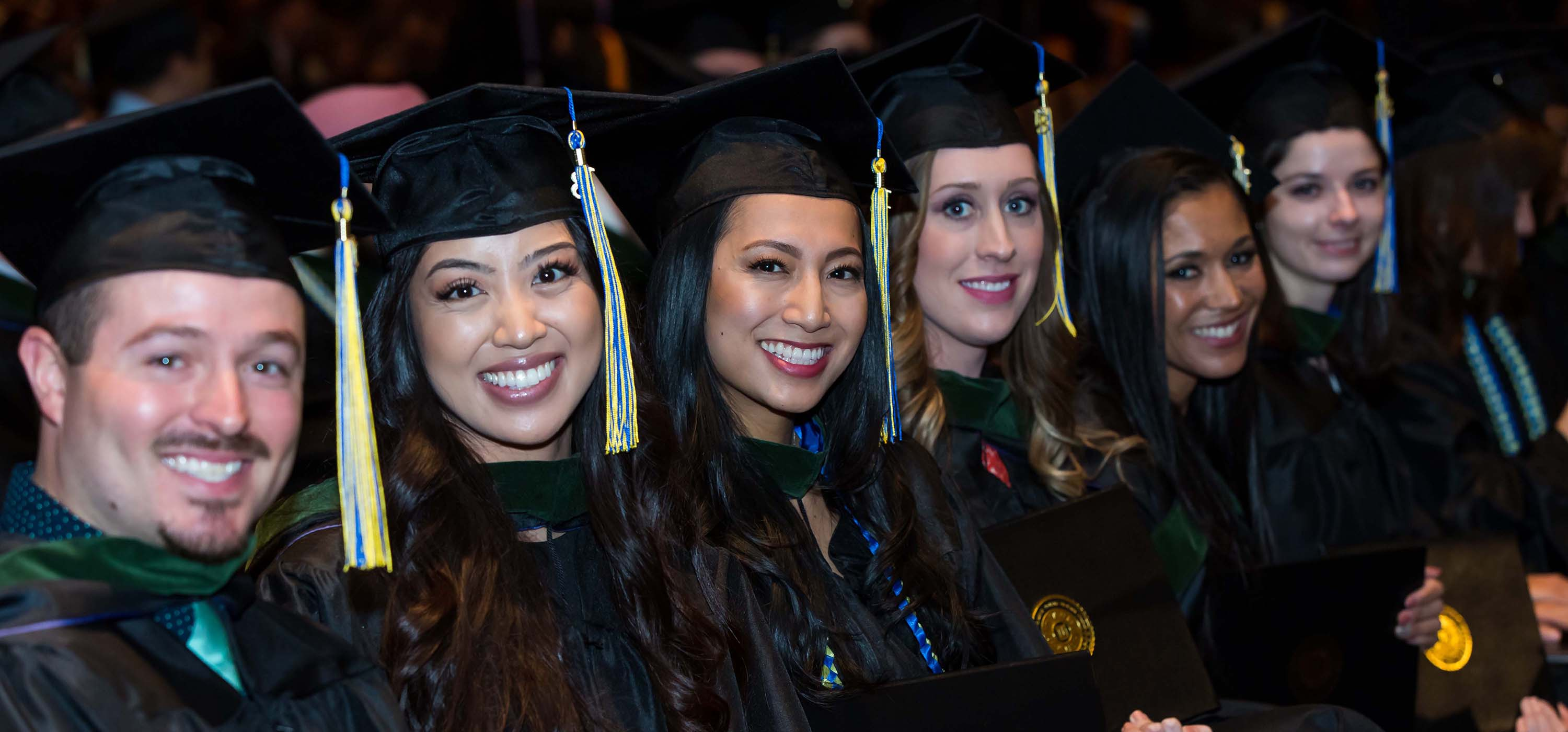 Graduates at the 2018 winter commencement.