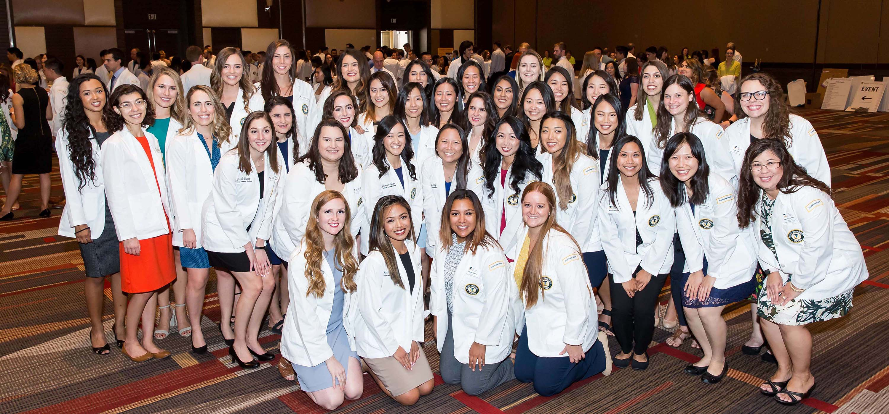 Students at the Aug. 6, 2018 White Coat Ceremony